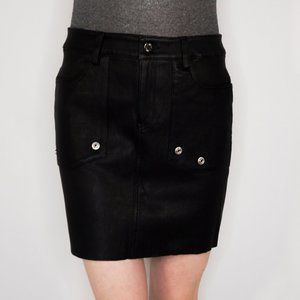 Zadig & Voltaire Deluxe Leather Mini Skirt NWT
